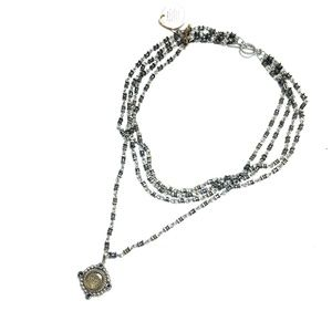 VSA chain choker necklace with beads